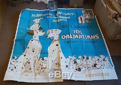 101 DALMATIANS R-1969 Original Disney 6 Sheet Movie Poster C9 Unused
