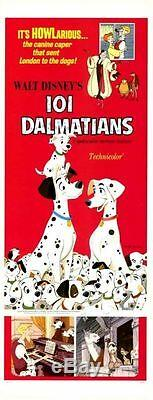 101 DALMATIANS US insert poster 14x36 (R69) WALT DISNEY