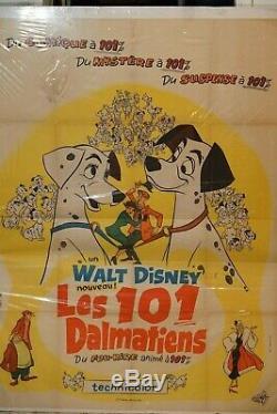 101 DALMATIANS Walt Disney 4x6 French Vintage Grande Original Poster 1961