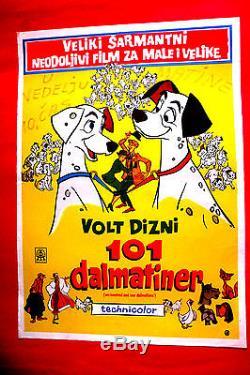 101 Dalmatians 1961 Walt Disney Taylor Gerson Rare Exyu Movie Poster # 2