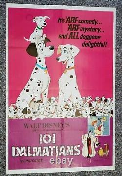 101 Dalmatians 1969 Walt Disney Classic Original RARE One Sheet Movie Poster