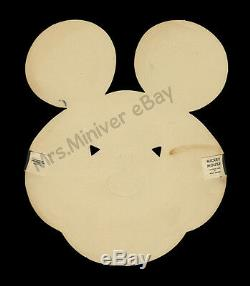 1933 MICKEY MOUSE POSTER and PAR-T-MASK! 1-of-a-kind WALT DISNEY STORE DISPLAY