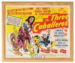 1944 Original Release Half Sheet Poster The Three Caballeros Disney Donald Duck