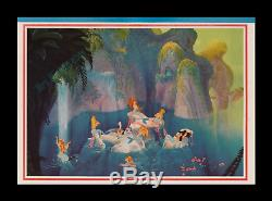 1952 Peter Pan Rolled Disney Transit 1-sh Movie Poster Advance Only Known Orig