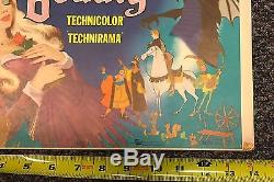 1959 Disney Sleeping Beauty Movie Window Card Poster 14x22