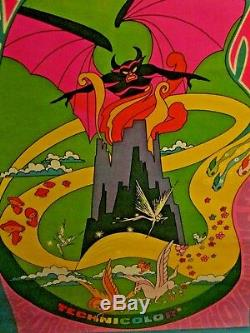 1969 WALT DISNEY FANTASIA cinema movie poster 41 X 28