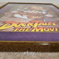 1990 Disney DUCK TALES THE MOVIE Vintage Movie Poster with 19x24 Frame