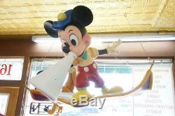 1990's Walt Disney Mickey & Pluto Director On Aladdin Carpet Huge Store Display