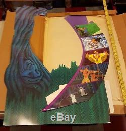 1995 POCAHONTAS Disney Standee Vintage Video Store Cardboard Large Floor Display