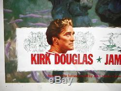 20,000 LEAGUES UNDER THE SEA MOVIE POSTER Walt Disney Kirk Douglas James Mason