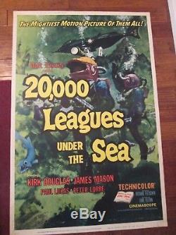 20,000 Leagues Under The Sea -Original 40 x 60 Movie Poster -Douglas Disney