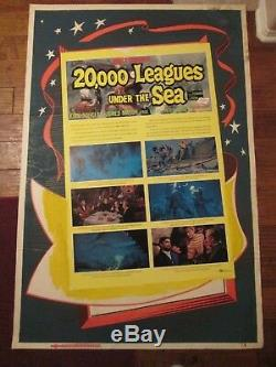 20,000 Leagues Under The Sea -Original 40 x 60 Movie Poster Walt Disney
