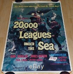 20,000 Leagues Under The Sea R 1971 Original Rolled 1 Sheet Movie Poster Disney