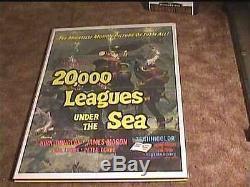 20,000 Leagues Under The Sea R71 Orig Movie Poster Scuba Diving Disney