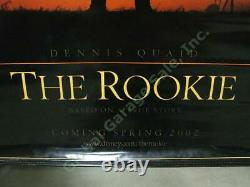 2002 The Rookie Disney Original Vinyl Movie Theater Poster Baseball Dennis Quaid