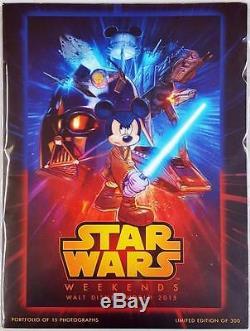 2015 Disney Star Wars Weekends Rare Official Pix 15 Photo Portfolio LE 300