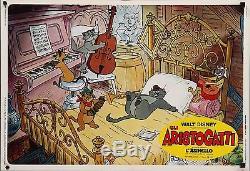 ARISTOCATS Italian fotobusta photobusta movie posters set x10 WALT DISNEY 1971
