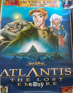 ATLANTIS THE LOST EMPIRE 6'x4' (2 VERSIONS) MOVIE BUS POSTERS WALT DISNEY 2001