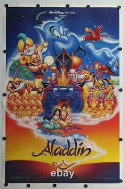 Aladdin 1992 Disney Double Sided Original Movie Poster 27 x 41