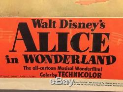 Alice in Wonderland Original 1951 Lobby Card Disney Painting the Roses Red