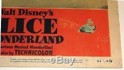 Alice in Wonderland Original 1951 RKO Lobby Card Painting the Roses Disney NSS