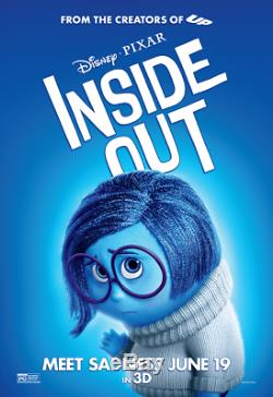 All 5 Disney Pixar Inside Out Character Bus Shelter Movie Posters D/S 4ft x 6ft