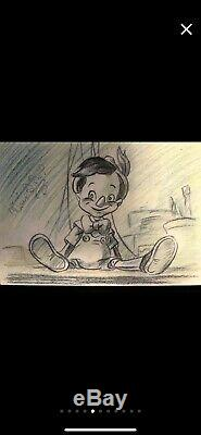 Awesome Walt Disney Original Signed Pinocchio Drawing! Make Offer