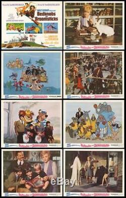 BEDKNOBS AND BROOMSTICKS original 1971 lobby card set DISNEY 11x14 movie posters