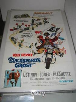 BLACKBEARD'S GHOST DISNEY (1968) US AUTHENTIC ORIGINAL 27x41 MOVIE POSTER (468)