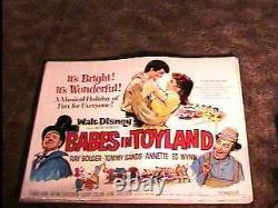 Babes In Toyland 22x28 Movie Poster'61 Disney Classic