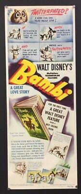 Bambi Original Insert Movie Poster Walt Disney 1942 Hollywood Posters