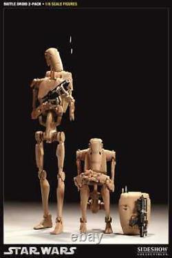 Battle Droid 2 x 30 cm Droids Infantry Figur OHNE Verpackung SIDESHOW 100024