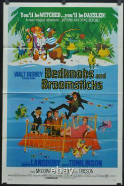 Bedknobs And Broomsticks 1971 Original 27x41 Movie Poster Angela Lansbury Disney