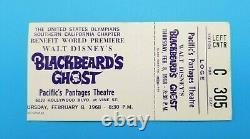 Blackbeard's Ghost Movie Premiere Ticket Disney Film Feb 8 1968 Very Rare