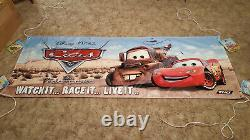 CARS the Original Movie / Game Vinyl Sign Banner Disney Pixar Ford Chevy Rare