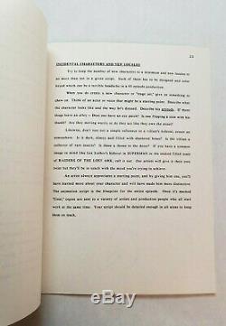 CHIP'N' DALE RESCUE RANGERS / 1987 Walt Disney TV Series Bible & Writer's Guide