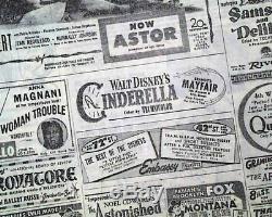 CINDERELLA Walt Disney MOVIE Opening Day Review & Advertisement 1950 Newspaper