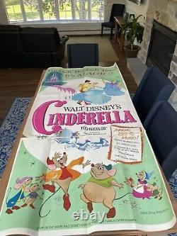 CINDERELLA movie poster original LARGE 3 sheet / three sheet DISNEY 41 x 84