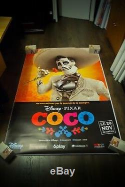 COCO Style C Walt Disney Pixar 4x6 ft Bus Shelter Original Movie Poster 2017