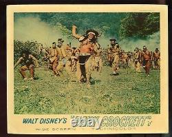 COMPLETE SET Disney DAVY CROCKETT English Lobby Cards KING OF THE WILD FRONTIER