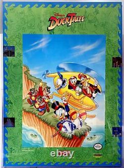 Capcom Disney's DUCK TALES Nintendo NES 1989 vintage original store poster green