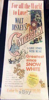 Cinderella!'50 Walt Disney Classic Original U. S. Insert Film Poster