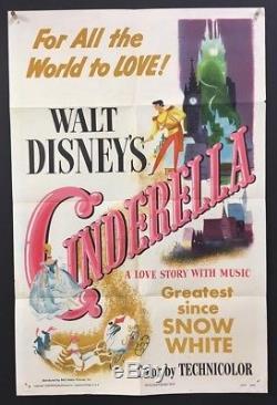 Cinderella Movie Poster 1950 Walt Disney Classic Art Hollywood Posters