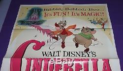 Cinderella Movie Poster R73 Original One Sheet Walt Disney