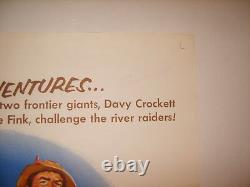 DAVY CROCKETT THE RIVER PIRATES 1956 DISNEY ORIGINAL 27x41 MOVIE POSTER (468)