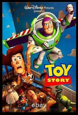 DISNEY 1 SHEET DS POSTERToy Story 1995 27x40 Pixar Original Tom Hanks Classic