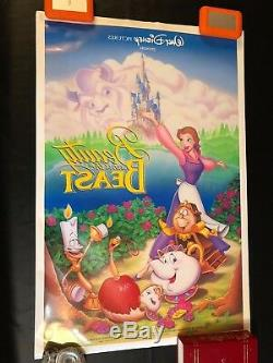 DISNEY BEAUTY and the BEAST One Sheets Lot of 2 Posters 2-Sided DS