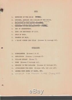 DISNEY KIDNAPPED HANDWRITTEN SCRIPT 1958 Robert Stevenson CORRECTIONS CHANGES