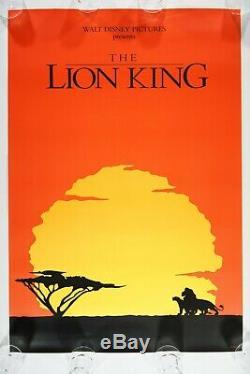 DISNEY'S THE LION KING 1994 27x40 1SH ROLLED ORIGINAL RARE TEASER Movie Poster