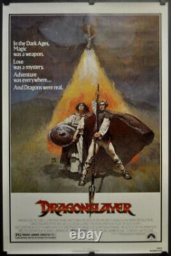 DRAGONSLAYER 1981 ORIGINAL 27X41 ROLLED MOVIE POSTER DISNEY PETER MacNICOLE